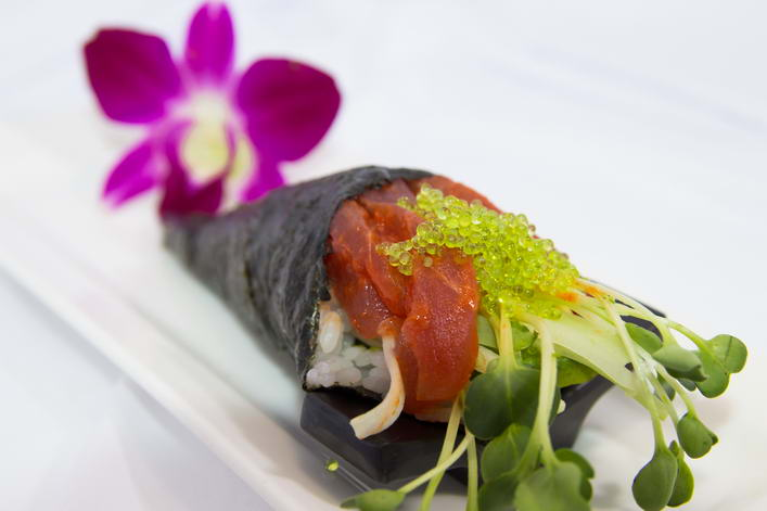 HR5. Spicy tuna hand roll